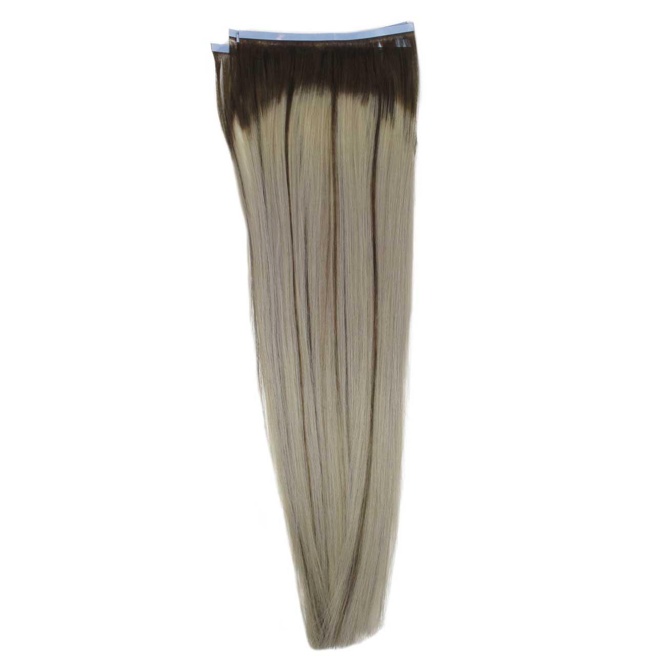 Mega Hair de Fita Adesiva Platinado Ombré Hair com Mechas Loiro Escuro 160 g