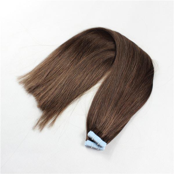 Mega Hair de Fita Adesiva Nano - Micro Pele Castanho Claro 120g Cabelo Humano Liso
