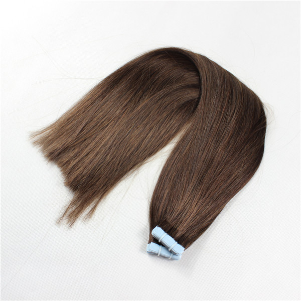 Mega Hair de Fita Adesiva Nano - Micro Pele Castanho Claro 80g Cabelo Humano Liso