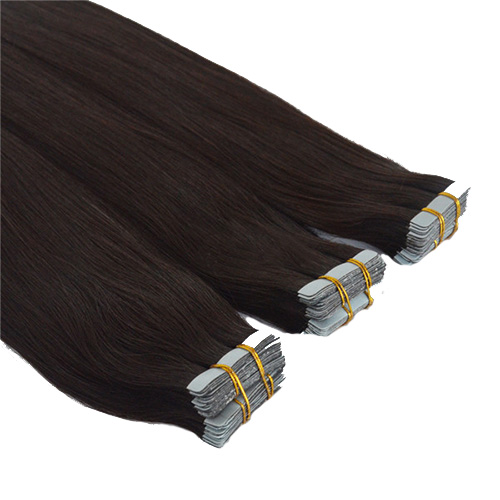 Mega Hair de Fita Adesiva Nano - Micro Pele Castanho Escuro 100g Cabelo Humano Liso
