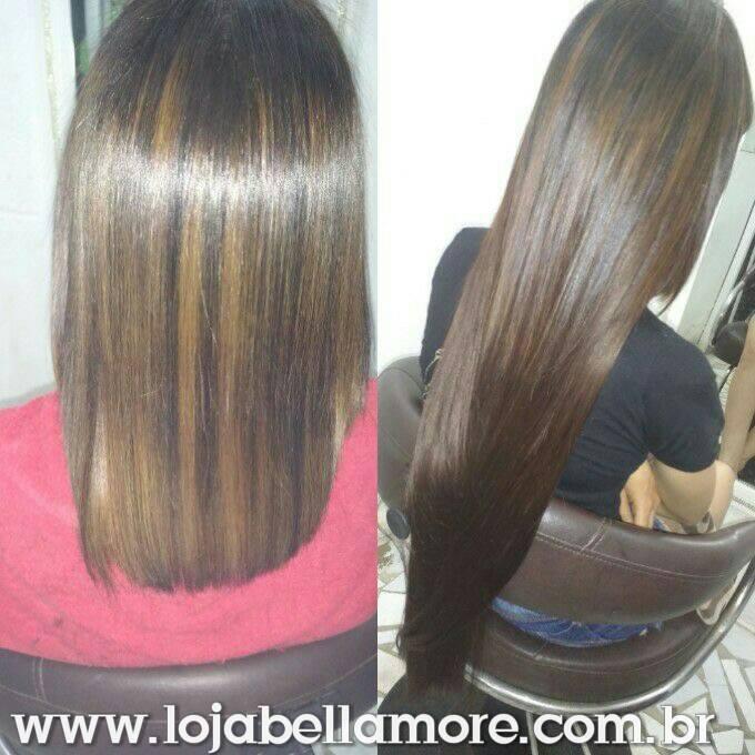 Mega Hair de Fita Adesiva Nano - Micro Pele Castanho Médio 160g Cabelo Humano Liso