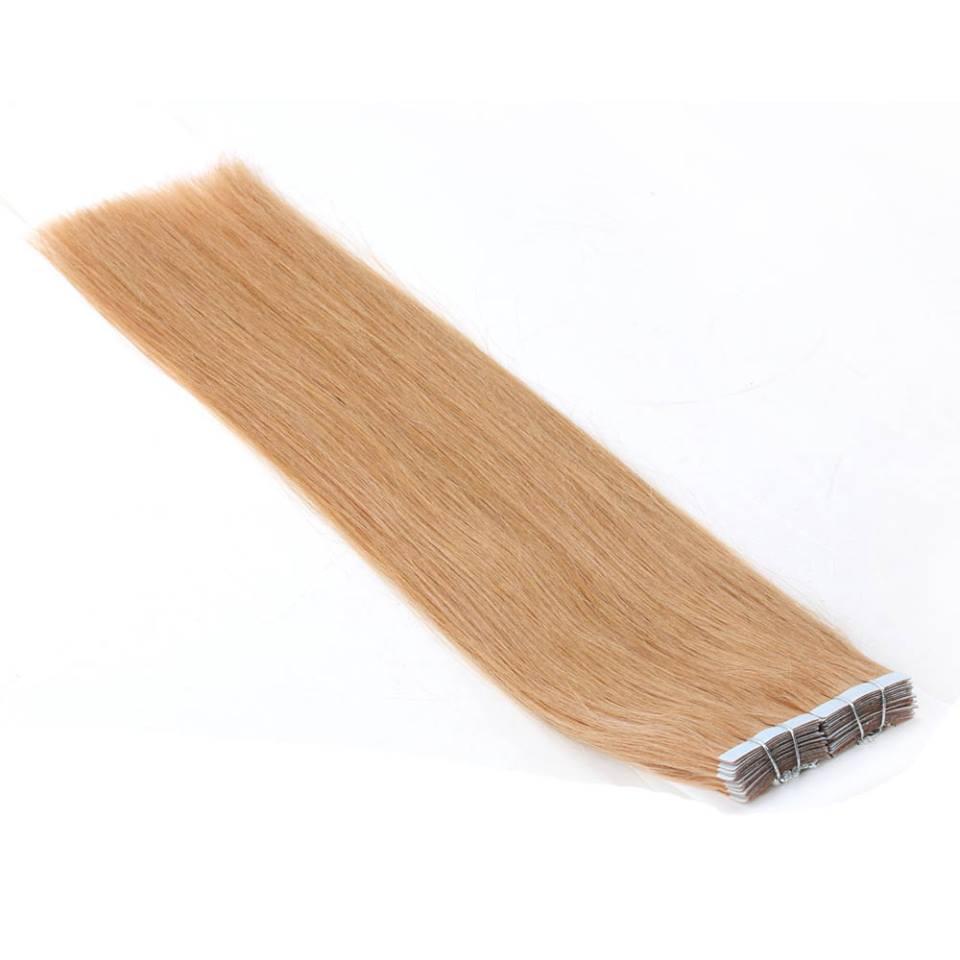 Mega Hair de Fita Adesiva Nano - Micro Pele Loiro Claro 80g Cabelo Humano Liso