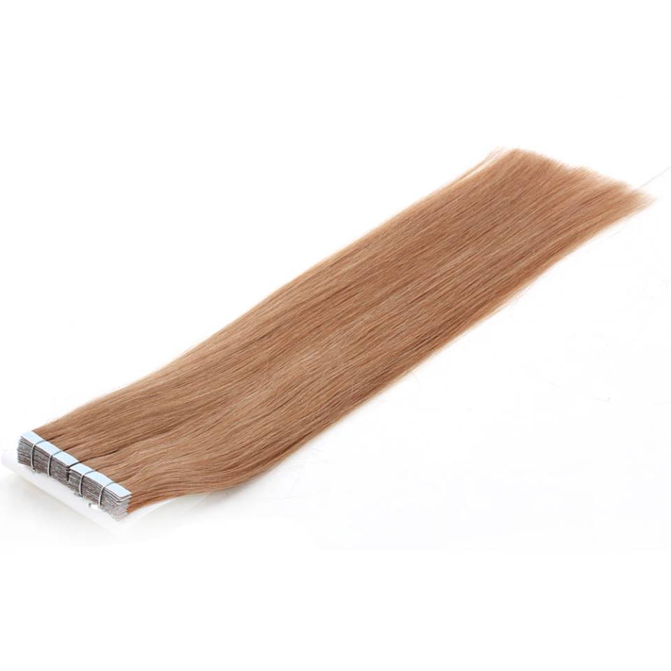 Mega Hair de Fita Adesiva Nano - Micro Pele Loiro Escuro 80g Cabelo Humano Liso