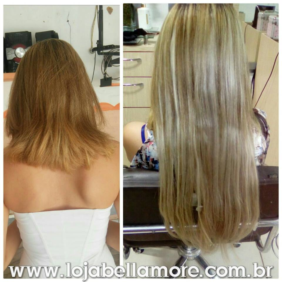 Mega Hair de Fita Adesiva Nano - Micro Pele Loiro Mechas Loiro Escuro 160g Liso