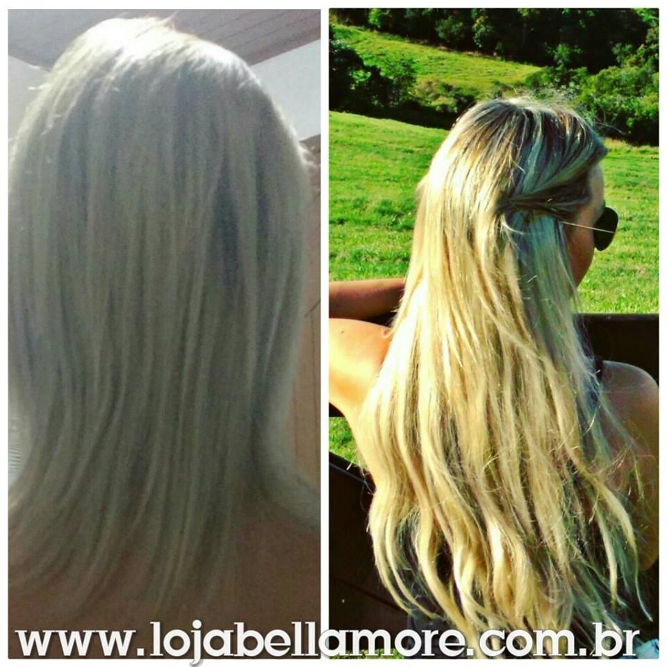 Mega Hair de Fita Adesiva Nano - Micro Pele Loiro Platinado 100g Cabelo Humano Liso