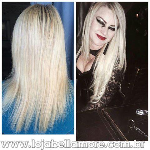 Mega Hair de Fita Adesiva Nano - Micro Pele Loiro Platinado 120g Cabelo Humano Liso
