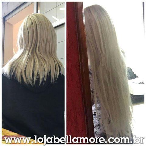 Mega Hair de Fita Adesiva Nano - Micro Pele Loiro Platinado 160g Cabelo Humano Liso