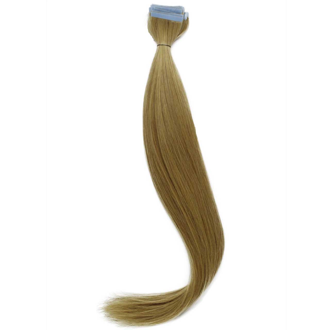 Mega Hair de Fita Adesiva Nano - Micro Pele Loiro Claro 100g Cabelo Humano Liso