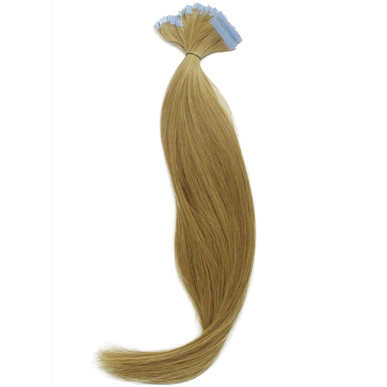 Mega Hair de Fita Adesiva Nano - Micro Pele Loiro Claro 120g Cabelo Humano Liso