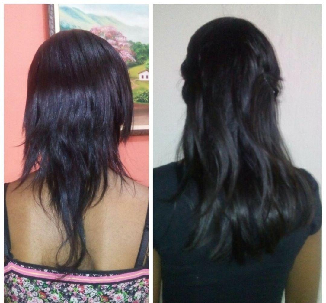 Mega Hair de Fita Adesiva Nano - Micro Pele Preto Intenso 100g Cabelo Humano Liso
