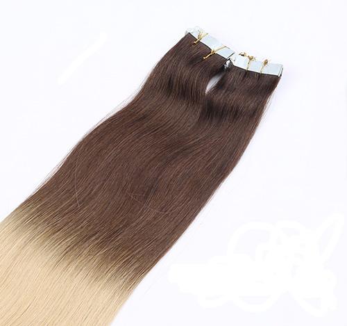 Mega Hair de Fita Adesiva Nano - Micro Pele Ombré Hair 80g Cabelo Humano Liso