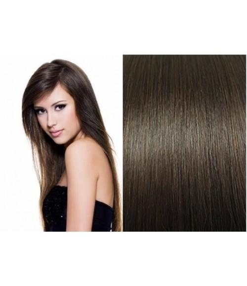 Mega Hair de Tela Castanho Claro 120g Cabelos Humanos Naturais Liso