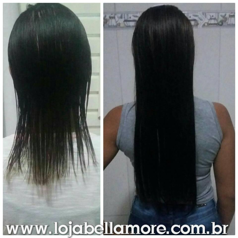 Mega Hair de Tela Castanho Escuro 100g Cabelos Humanos Naturais Liso