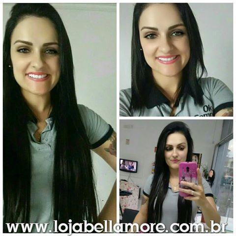 Mega Hair de Tela Castanho Escuro 160g Cabelos Humanos Naturais Liso