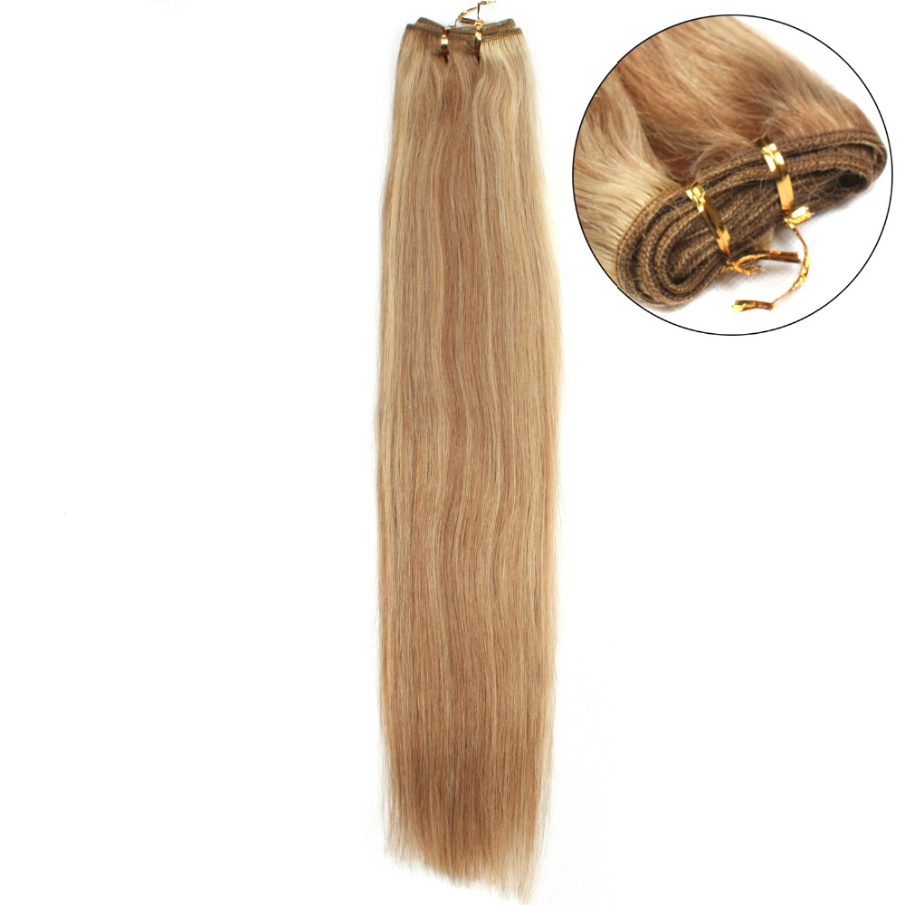 Mega Hair de Tela com Mechas 120g Cabelos Humanos Naturais Liso