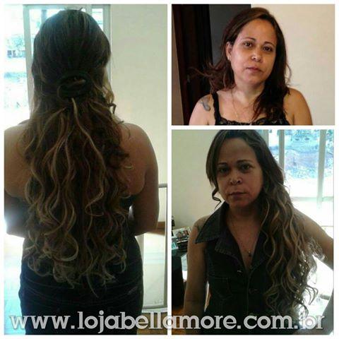 Mega Hair de Tela com Mechas 160g Natural Cabelo Humano