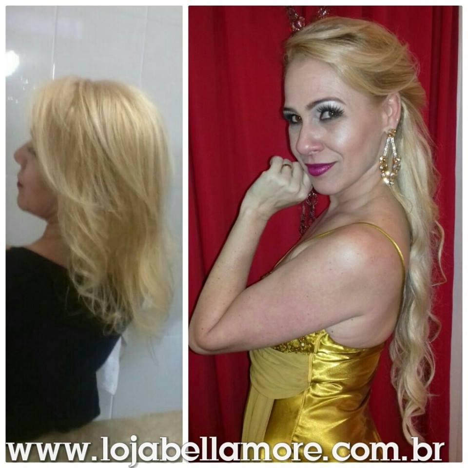 Mega Hair de Tela Loiro Claro 100g Cabelos Humanos Naturais Liso