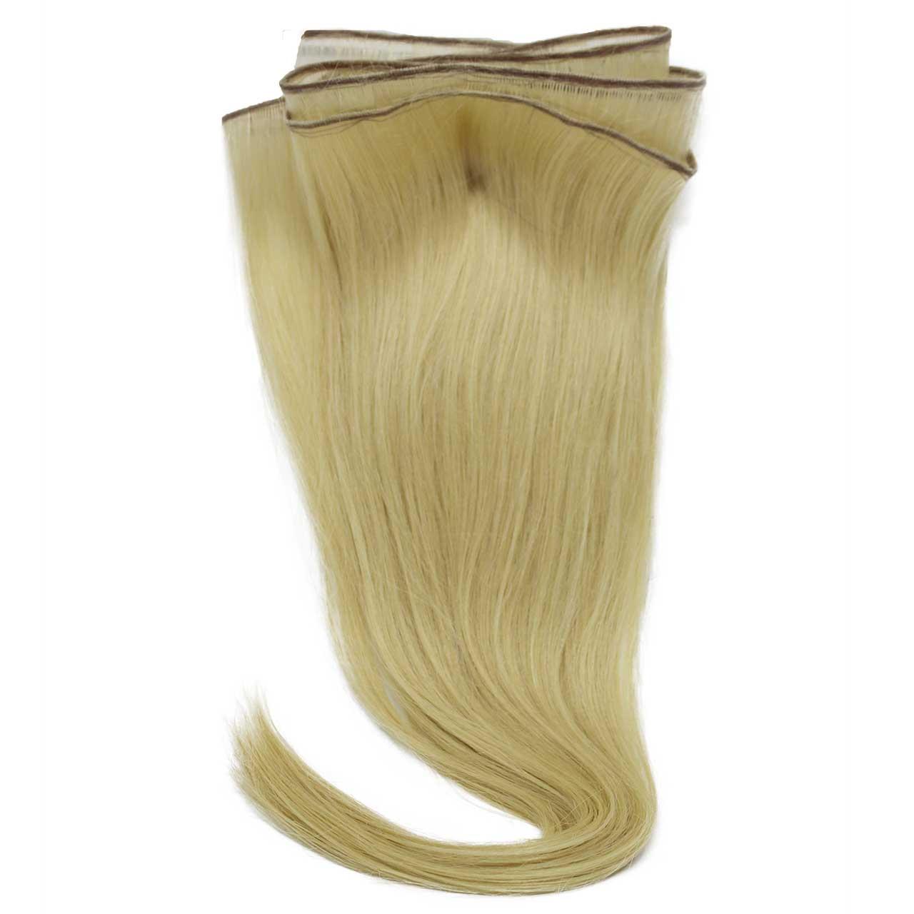 Mega Hair de Tela Loiro Claro 120g Cabelos Humanos Naturais Liso