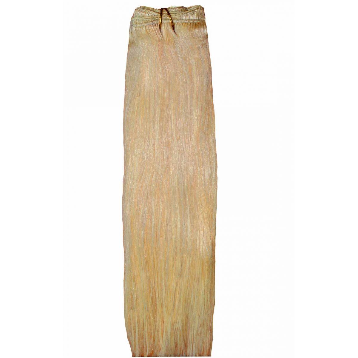 Mega Hair de Tela Loiro Claro 160g Natural Cabelos Humano