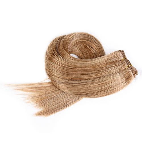 Mega Hair de Tela Loiro Escuro 100g Cabelos Humanos Naturais Liso