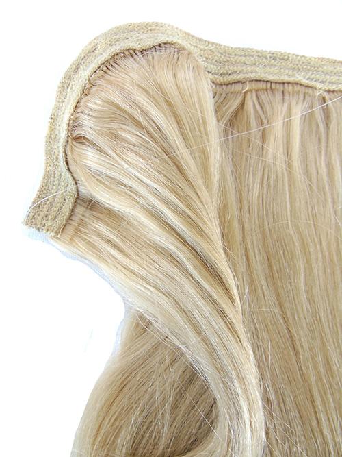 Mega Hair de Tela Loiro Platinado 80g Cabelos Humanos Naturais Liso