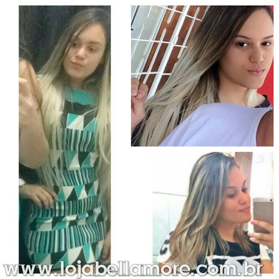 Mega Hair de Tela Ombré Hair 120g Cabelos Humanos Naturais Liso