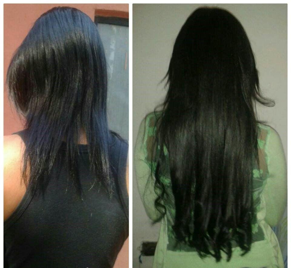 Mega Hair de Tela Preto Intenso 160g Cabelos Humanos Naturais Liso