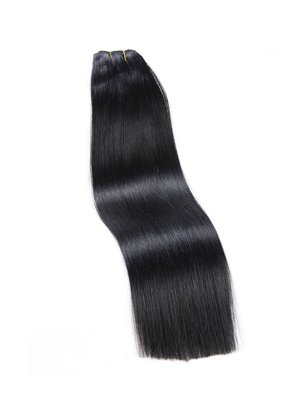 Mega Hair de Tela Preto Intenso 80g Cabelos Humanos Naturais Liso