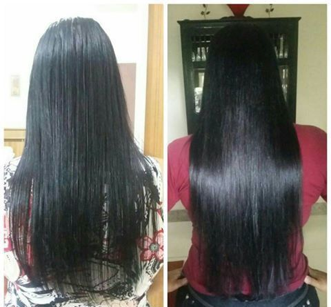 Mega Hair de Tela Preto Natural 100g Cabelos Humanos Naturais Liso