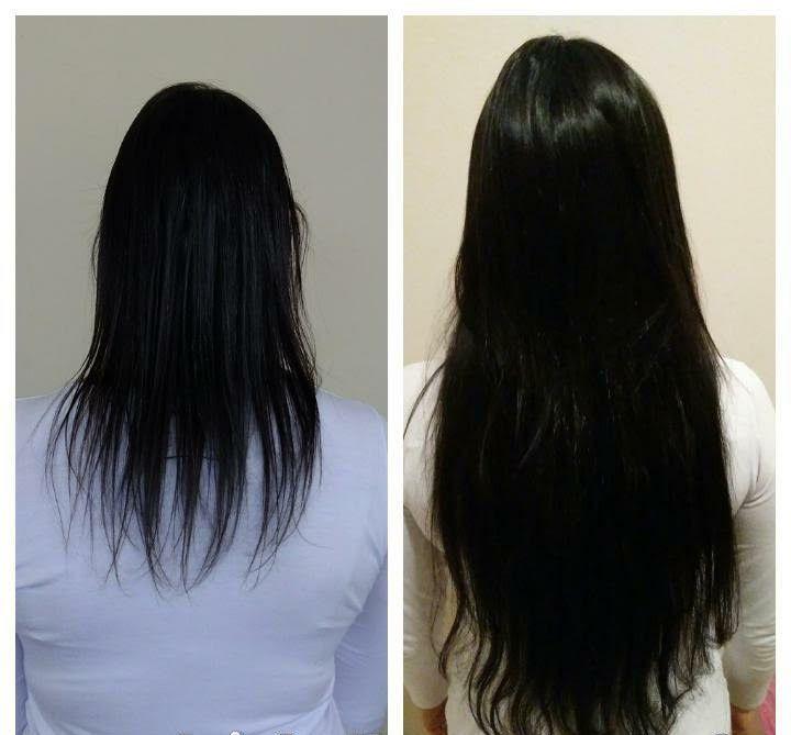 Mega Hair de Tela Preto Natural 120g Cabelos Humanos Naturais Liso