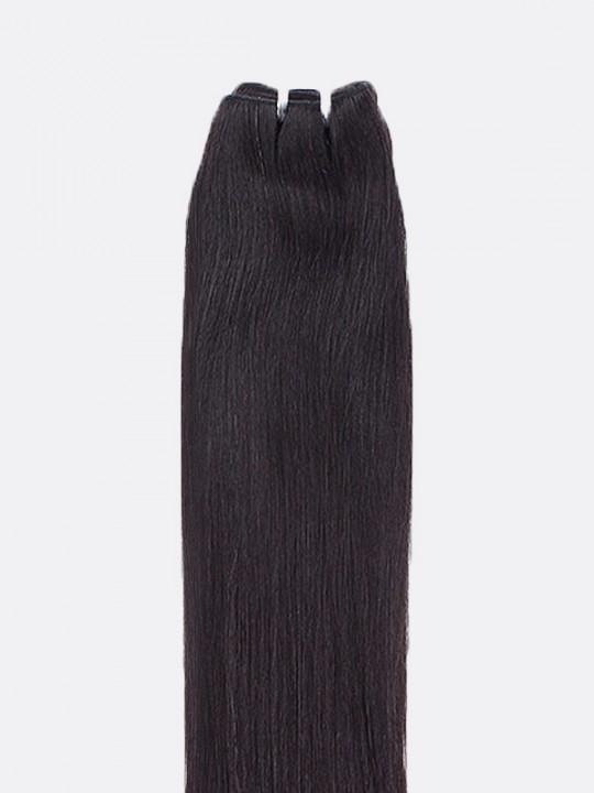 Mega Hair de Tela Preto Natural 80g Cabelos Humanos Naturais Liso