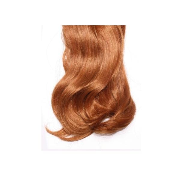 Mega Hair de Tela Ruivo 120g Cabelos Humanos Naturais Liso