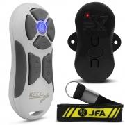 Controle Longa Distancia JFA K600 Branco com Botão Cinza 600 Metros