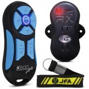 Controle Longa Distancia JFA K600 Preto com Botão Azul 600 Metros