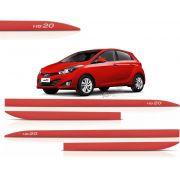 Jogo de Friso Lateral Hyundai HB20 Vermelho Chilli