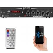 Módulo Amplificador Receiver Home Taramps THS 1800 80W Rms 4 Canáis Bivolt USB SD FM BT