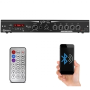 Módulo Amplificador Receiver Home Taramps THS 4600 250W Rms 2 Canáis Bivolt USB SD FM BT