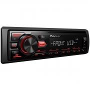 Radio Automotivo Pioneer Mp3 Player 1 Din Mvh-98ub Usb Aux