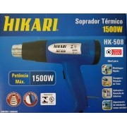 Soprador Térmico de 1500W HIKARI HK 508 Profissional com 2 estágios de temperatura 220 Volts Azul