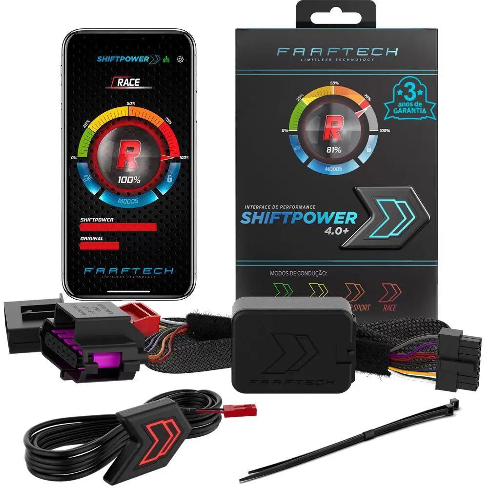 Acelerador Pedal Shiftpower Faaftech 4.0 Plug Play Bluetooth FT-SP09+
