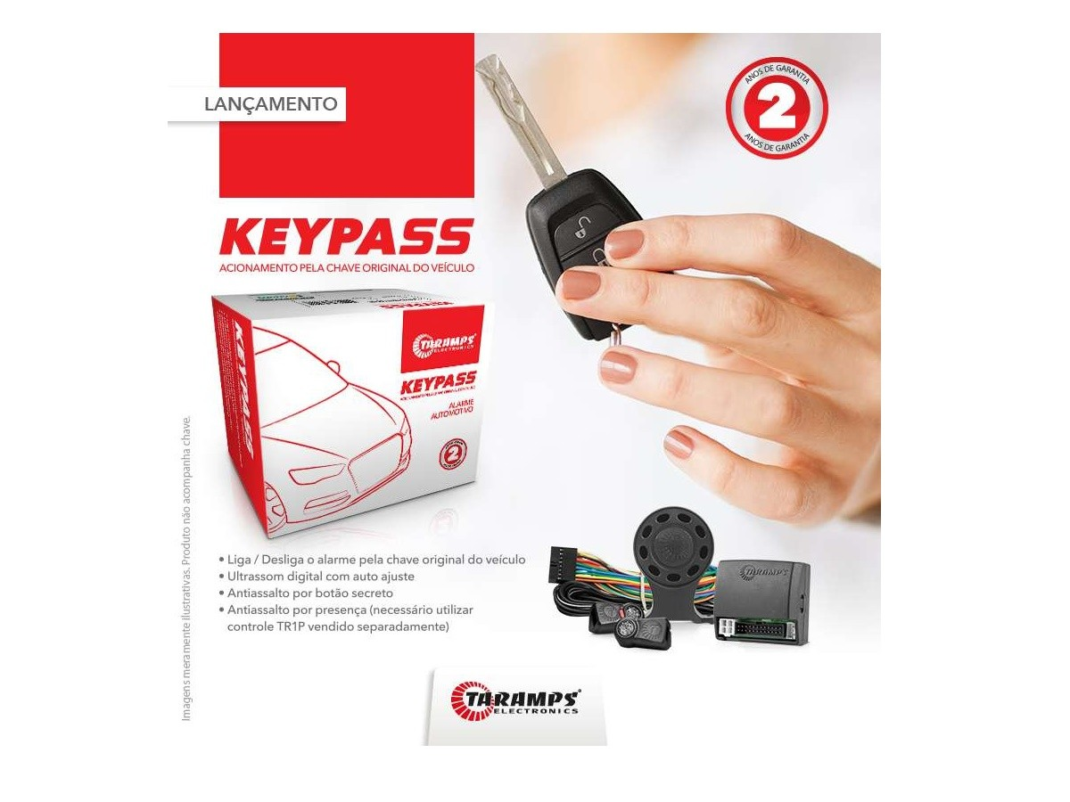 Alarme Automotivo Taramps Key Pass para Chave Original