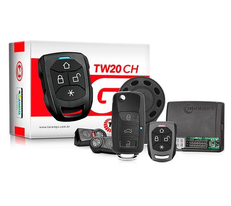 Alarme Automotivo Taramps TW20 CH com 2 Controles, 1 TR3 Canivete e 1 TR2 Convencional
