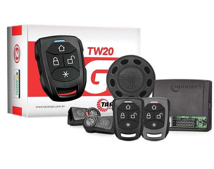 Alarme Automotivo Taramps TW20P G3 com 2 Controles e função de Presença