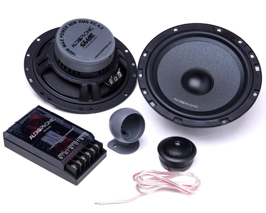 "Alto Falante Kit 2 Vias Audiophonic 6"" Club KC 6.3 160W Rms 4 Ohms"