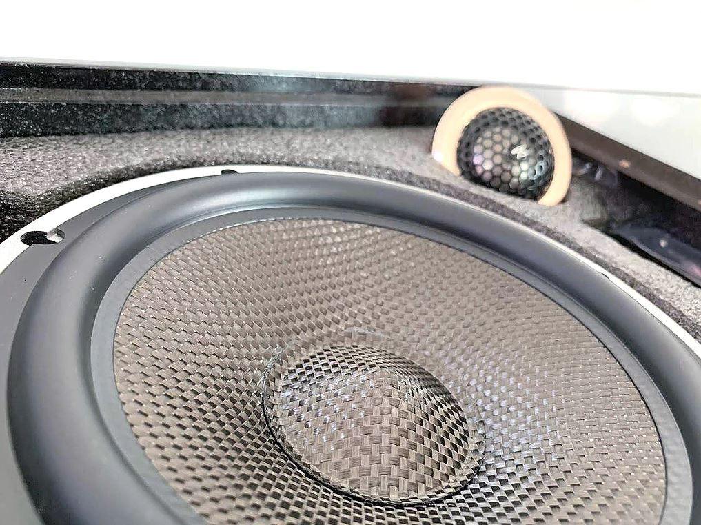 "Alto Falante Kit 2 Vias Audiophonic 6"" H-Tech HTK 6.2 180W Rms 4 Ohms"