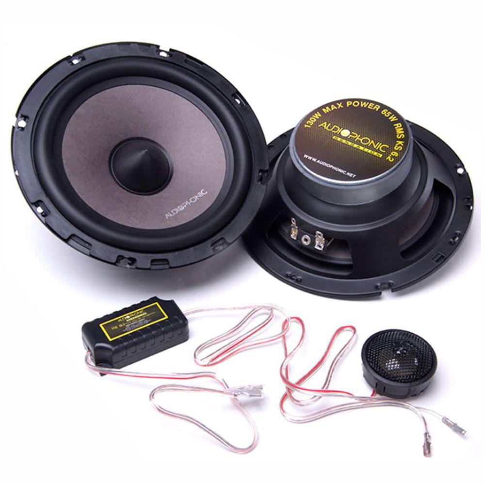 "Alto Falante Kit 2 Vias Audiophonic 6"" Sensation KS 6.2 130W Rms 4 Ohms"