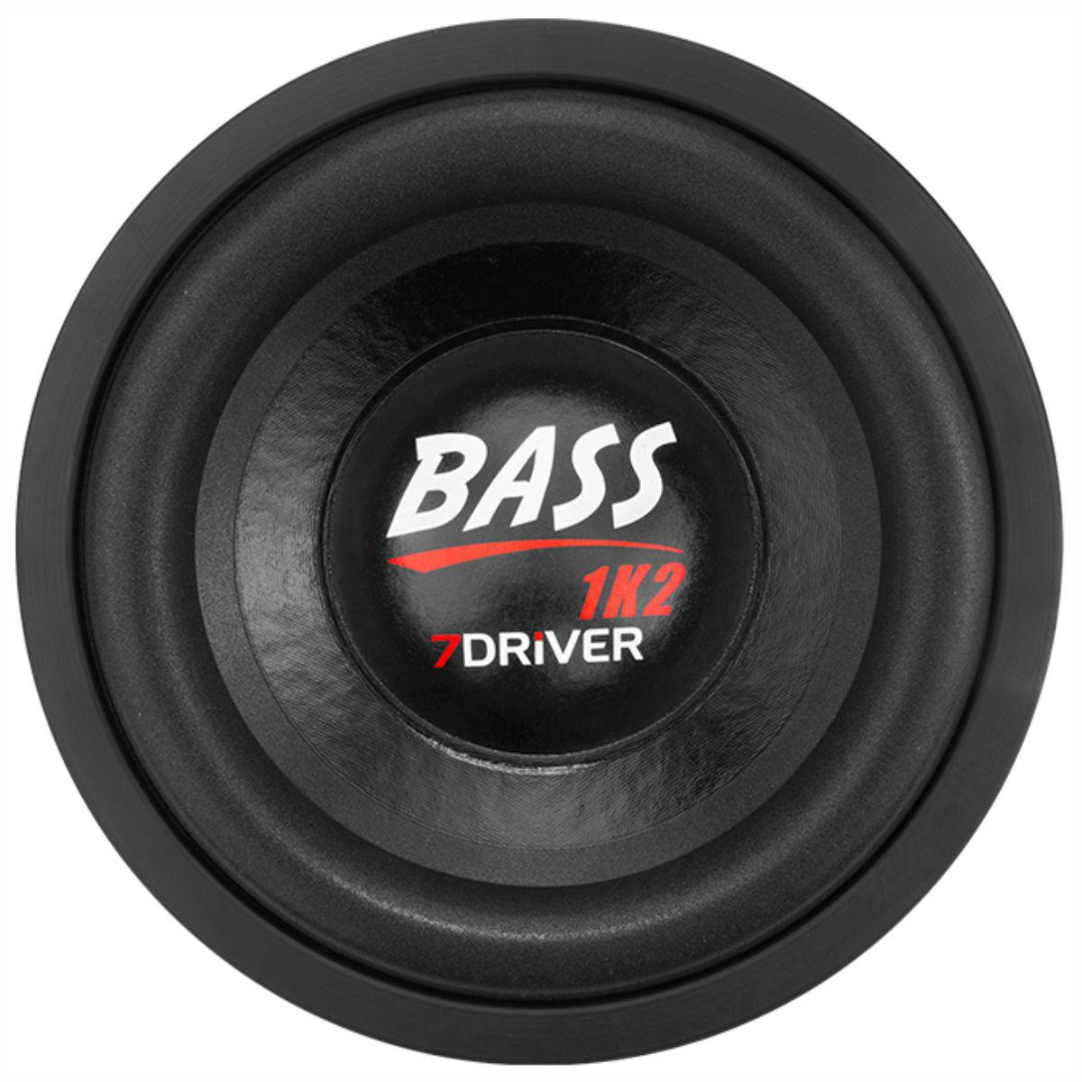 "Alto Falante Subwoofer 7Driver 10"" Bass 1K2 600W RMS 4+4 Ohms"