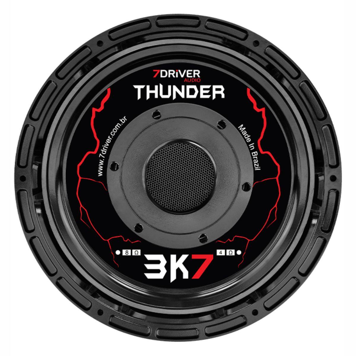 """Alto Falante Woofer 7Driver 12"""" Thunder 3K7 1850W Rms 4 Ohms"""