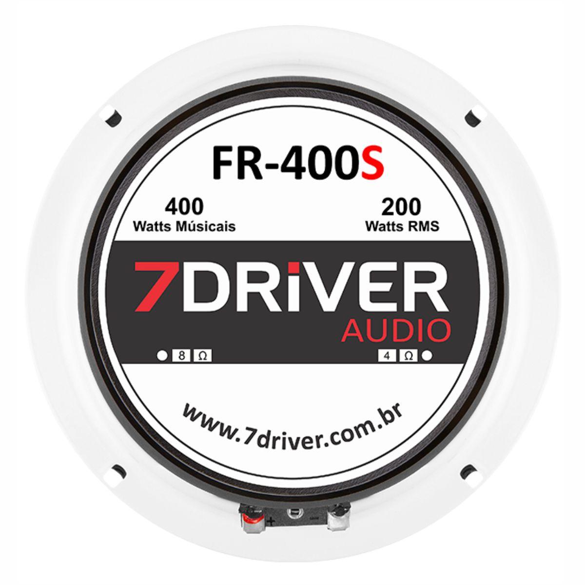 """Par de Alto Falante Woofer 7Driver 6"""" FR 400S 200W Rms 4 Ohms"""