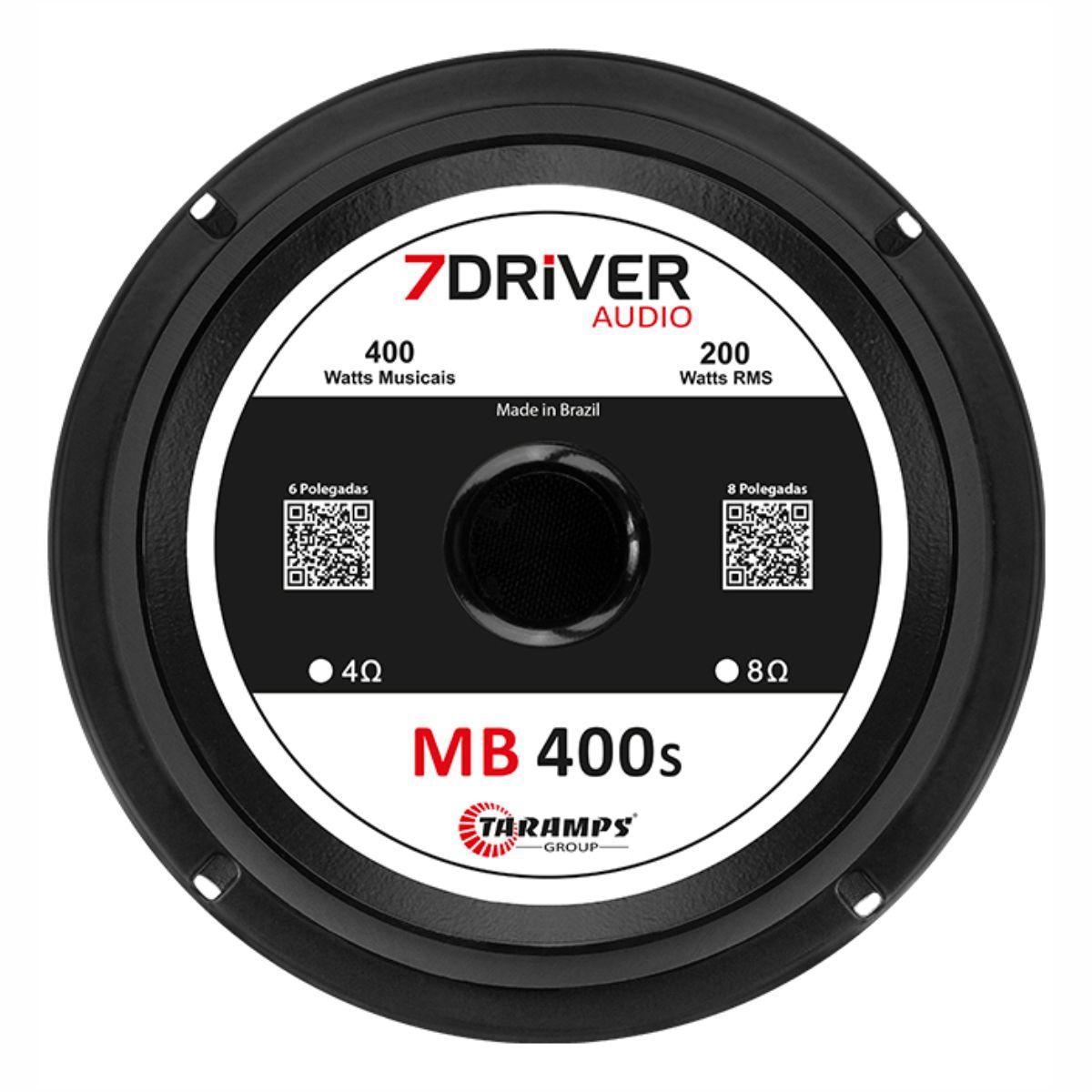 """Alto Falante Woofer 7Driver 6"""" MB 400S 200W Rms 4 Ohms"""
